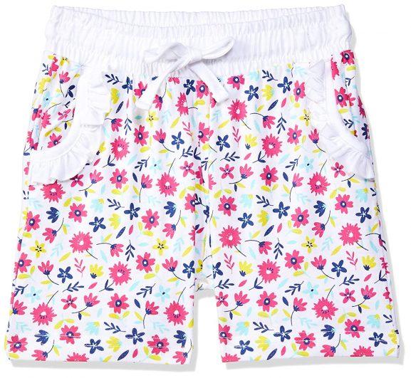 EASYBUY Girl's Regular fit Cotton Shorts: Shorts For Girl