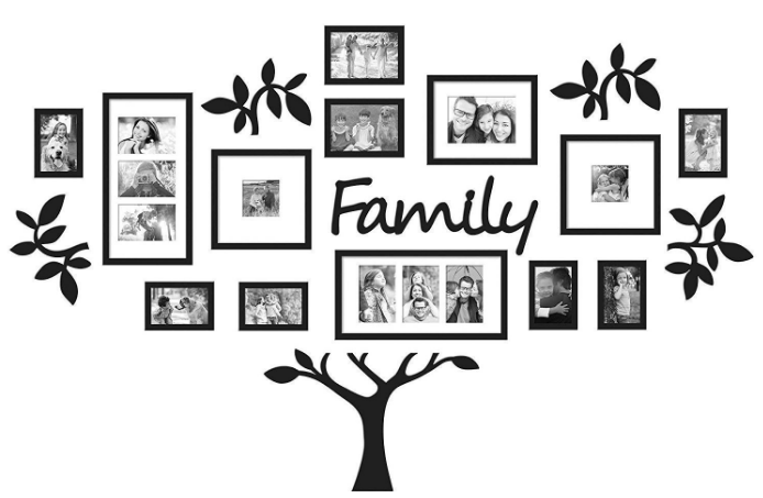 Eye-Catching Collage Family Tree Frame Set: Gifts For Grandmother