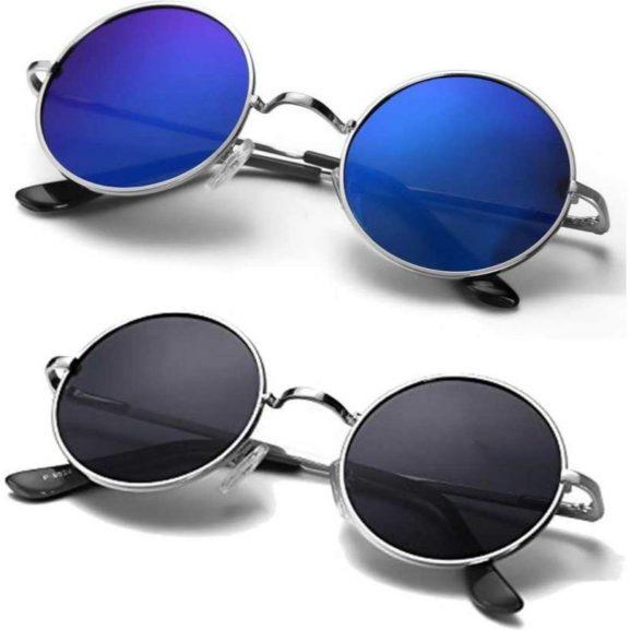 Eye Collection Non-Polarized UV-Protected Round Unisex Sunglasses