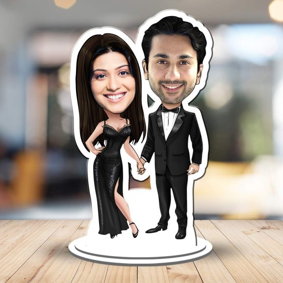 Foto Factory Gifts Personalized Caricature: Marriage Anniversary Gift For Couple