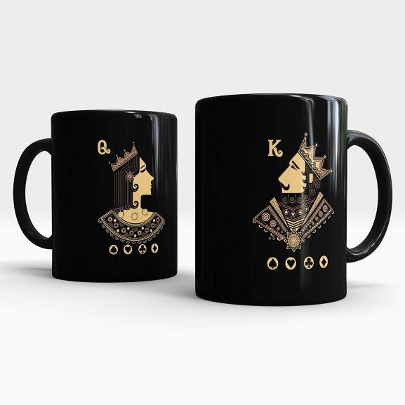Gift Arcadia King and Queen Printed Coffee Mug Gift Set