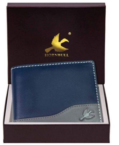 Hornbull Buttler Navy Men's Leather Wallet: Gift For Male Bestie