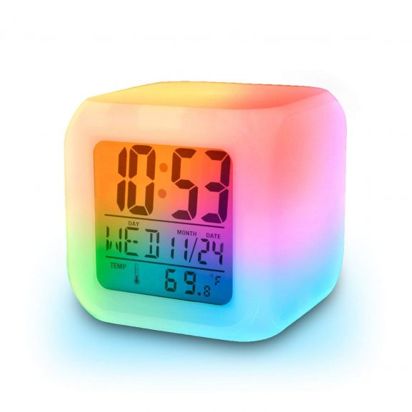 Jeval Plastic Digital Alarm Clock with Date Time and Temperature