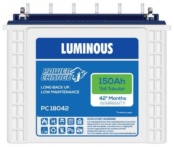 Luminous PC 18042 Tubular Battery: Inverter Battery