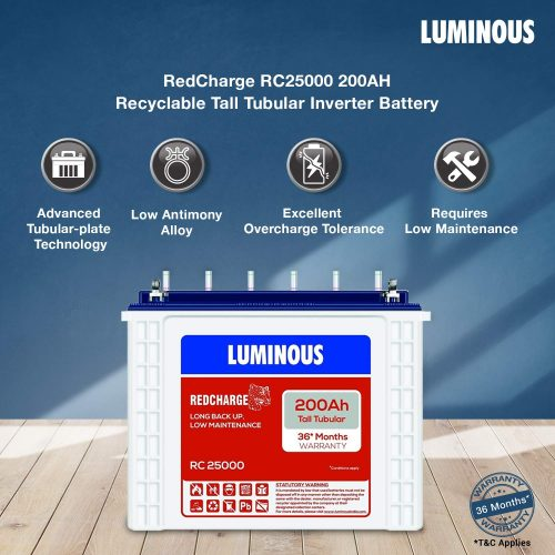 Luminous Red Charge Inverter Battery: Inverter Battery
