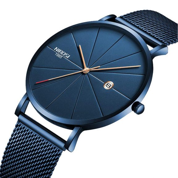 NIBOSI Analogue Black Dial Men's Watch: Gift For Male Bestie