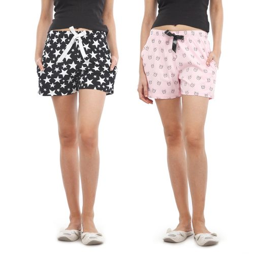 NITE FLITE Women Cotton Shorts