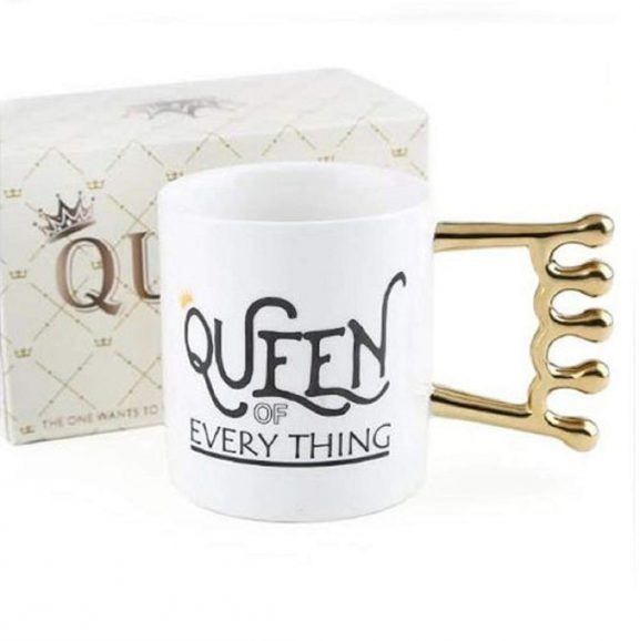 Nyrwana Queen Mug Crown Handle Coffee Mug