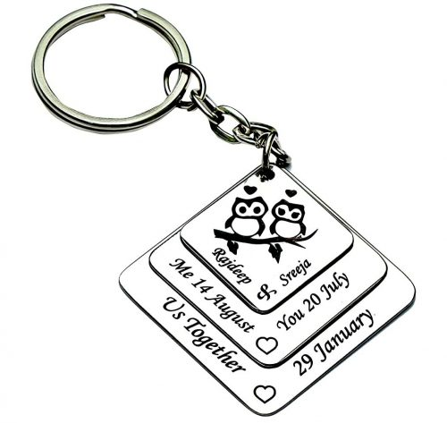 Phoenix Creations Keychain: Marriage Anniversary Gift For Couple