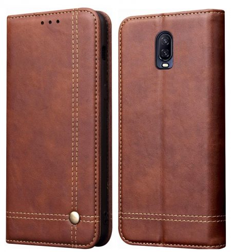Pirum Magnetic Leather Case: OnePlus 6T Cover
