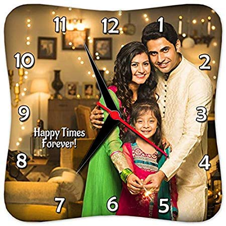 Presto Customized, Personalized Gift Clock- Family Couple Mother Wife Friendship Grandparents New Home Valentine Day New Born Marriage Birthday Mom Dad