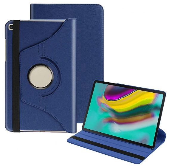 TGK 360 Degree Rotating Leather Smart Case: Samsung Galaxy Tab S5e Case