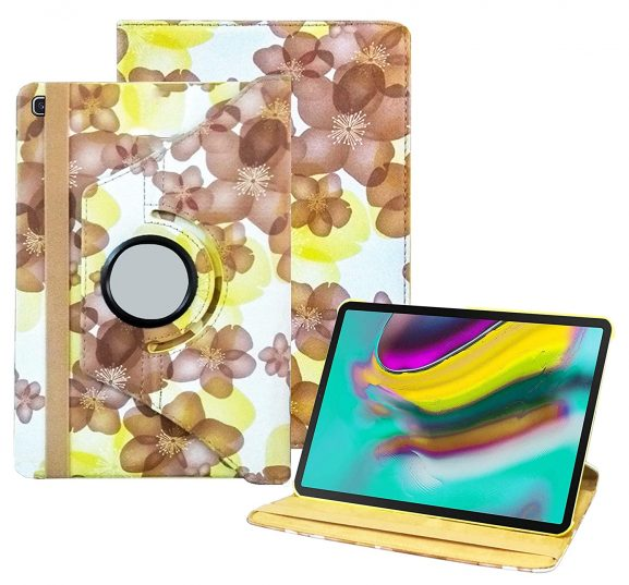 TGK Flower Print Design Case: Samsung Galaxy Tab S5e Case
