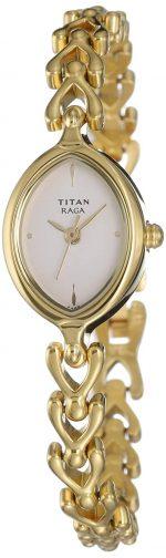 Titan Raga Analog White Dial Women's Watch: Gifts For Grandmother