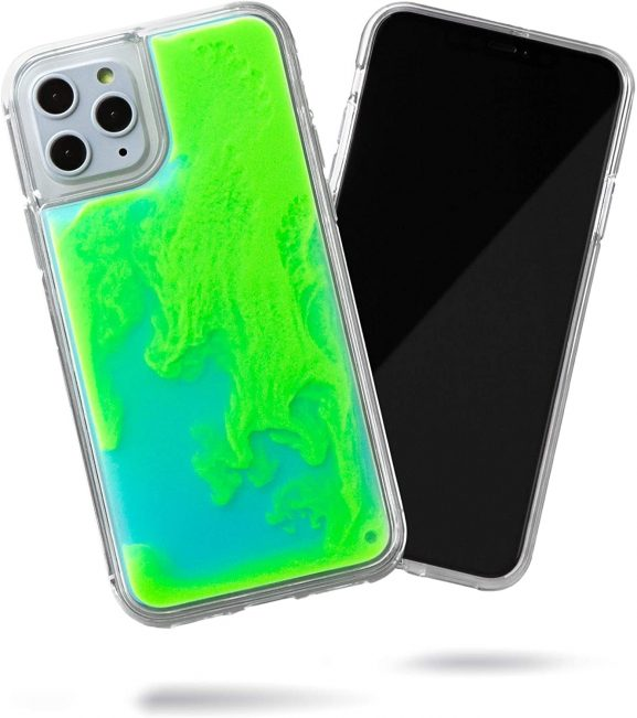 Trenx Exclusive Neon Sand Case for iPhone 12 Pro Max (Lime Sorbet)