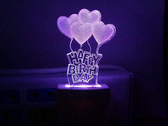 UKANI 3D Illusion Love Baloon: Birthday Gift For Girls