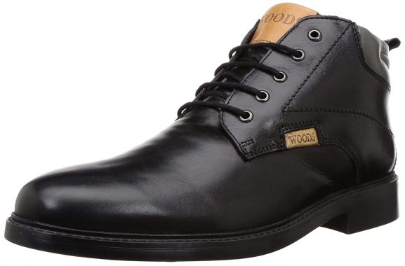 Woodland Men's Gb 2946118_Black Leather Boots