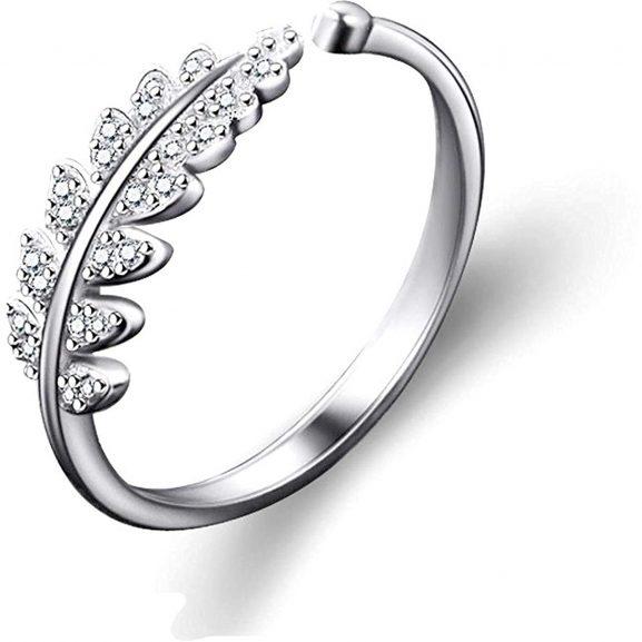 Yellow Chimes Elegant Austrian Crystal Platinum Plated Adjustable Ring