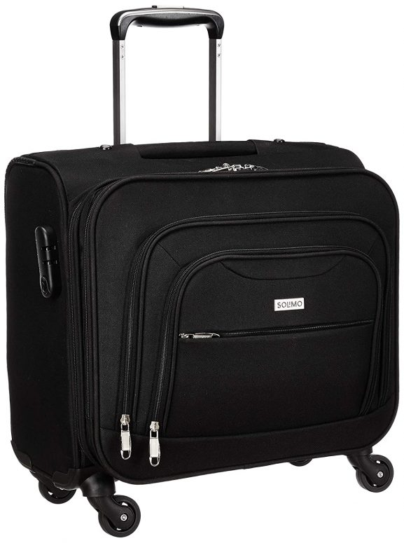 Amazon Brand - Solimo Rolling Laptop Case and Overnighter