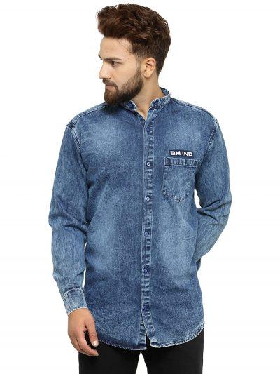 Ben Martin Men's Regular Fit Formal Shirt: Denim Shirt For Men