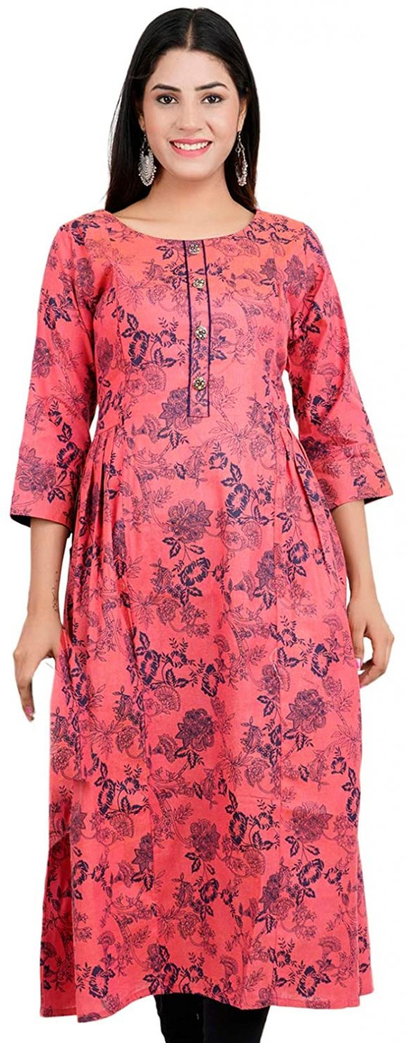 CEE 18 Women's Cotton A-line Kurti