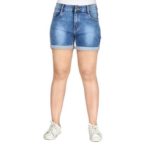 Club A9 Women's Blue Denim Shorts