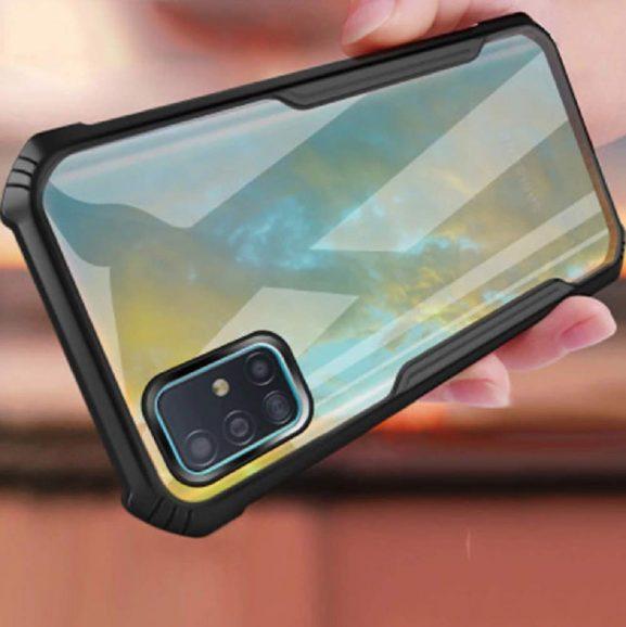 Crombie Transparent Back Cover: Realme 7 Transparent Bumper Case
