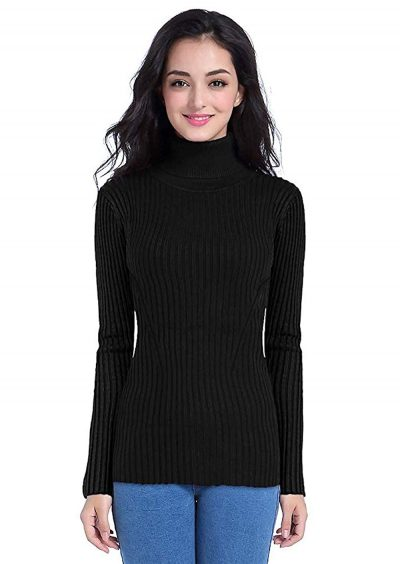 DENIMHOLIC Women's Sweater: Turtle Neck Sweater