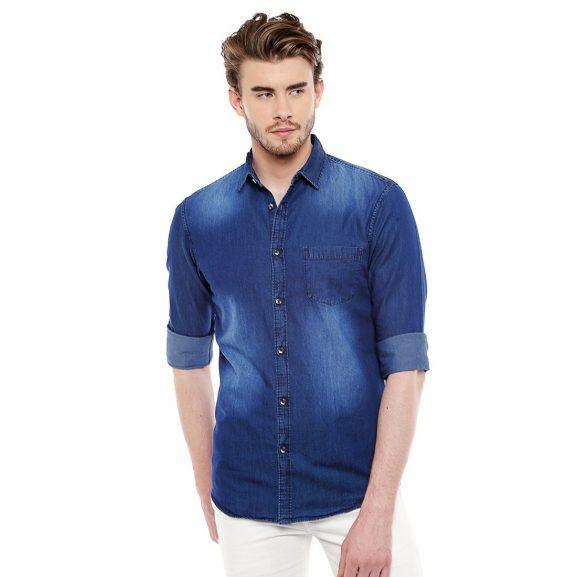 Dennis Lingo Men's Casual Shirt: Denim Shirt For Men