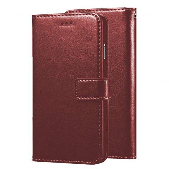 Dervin Flip Cover for Realme C11 PU Leather Magnetic Wallet Back Cover Case for Realme C11