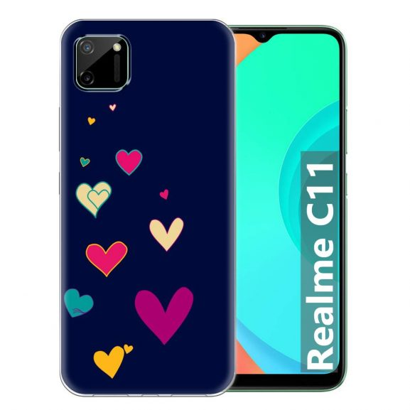 Fashionury Printed Soft Silicone Designer Pouch Mobile Back Cover for Realme C11 Case and Covers