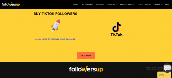 Followers Up: Site to Buy TikTok Followers