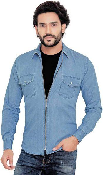 GLOBALRANG Men's Regular Fit Shirt: Denim Shirt For Men