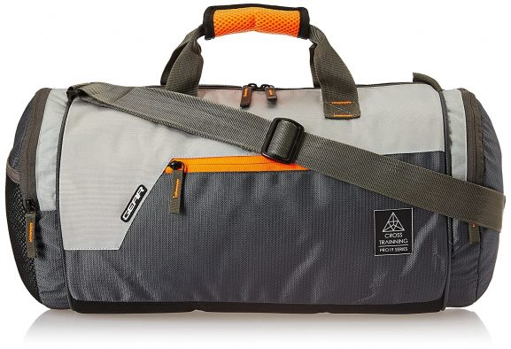 Gear Cross Training Travel Duffel Grey Orange