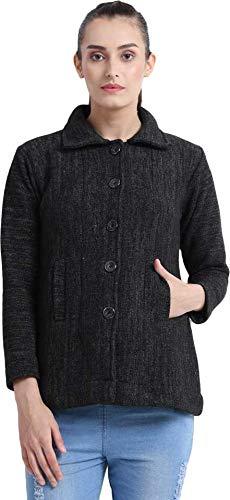 HAUTEMODA Women's Winterwear: Collared Cardigan