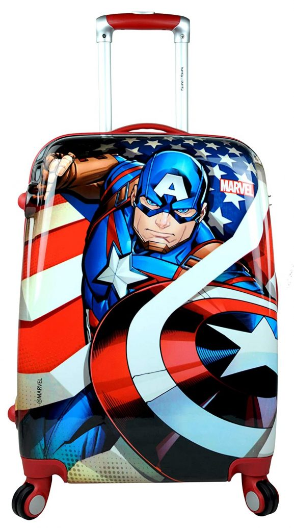 Humty Dumty Captain American Kids Hard Luggage Trolley Bag
