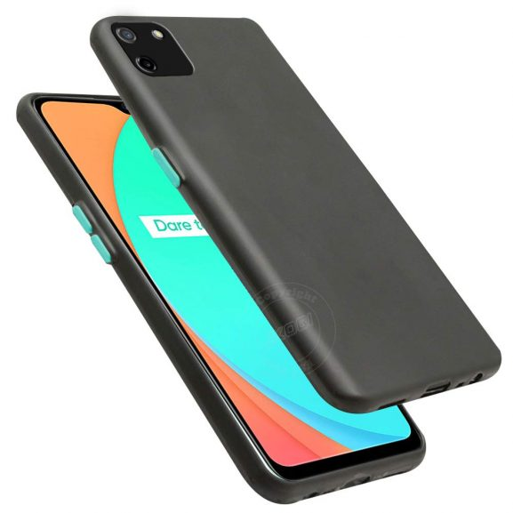 Jkobi Smoke Soft Back Case Cover with Color Buttons for Realme C11