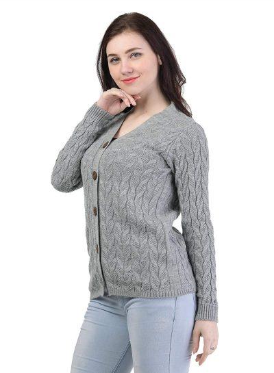 Kalt Women's Acrylic V-Neck Sweater: Kalt Sweater For Women