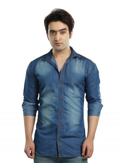 Kandy Men's Regular Fit Casual Shirt: Denim Shirt For Men