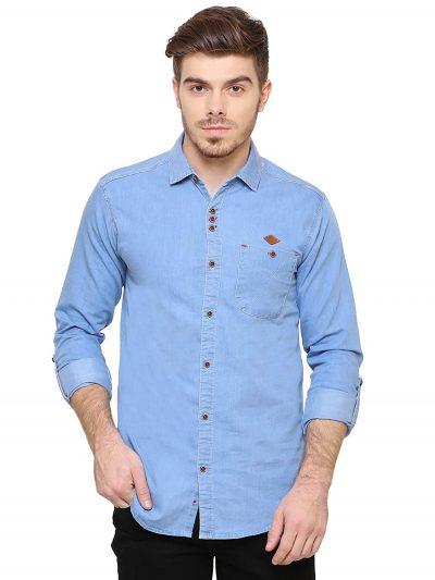 Kuons Avenue Men's Denim Shirt: Denim Shirt For Men