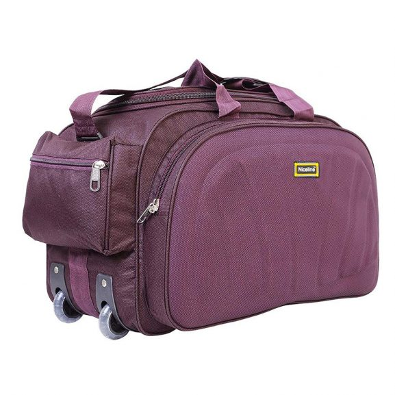 Nice Line Purple Polyester Travel Duffle Bag