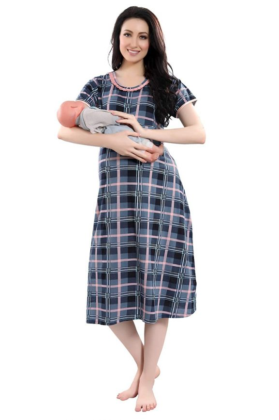 Piu Women's Maternity Nightwear Dress