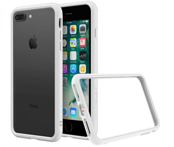 RhinoShield CrashGuard NX Bumper Cover: iPhone 7 Plus Transparent Case