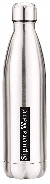 Signoraware Aace Single Walled Stainless Steel Fridge Water Bottle