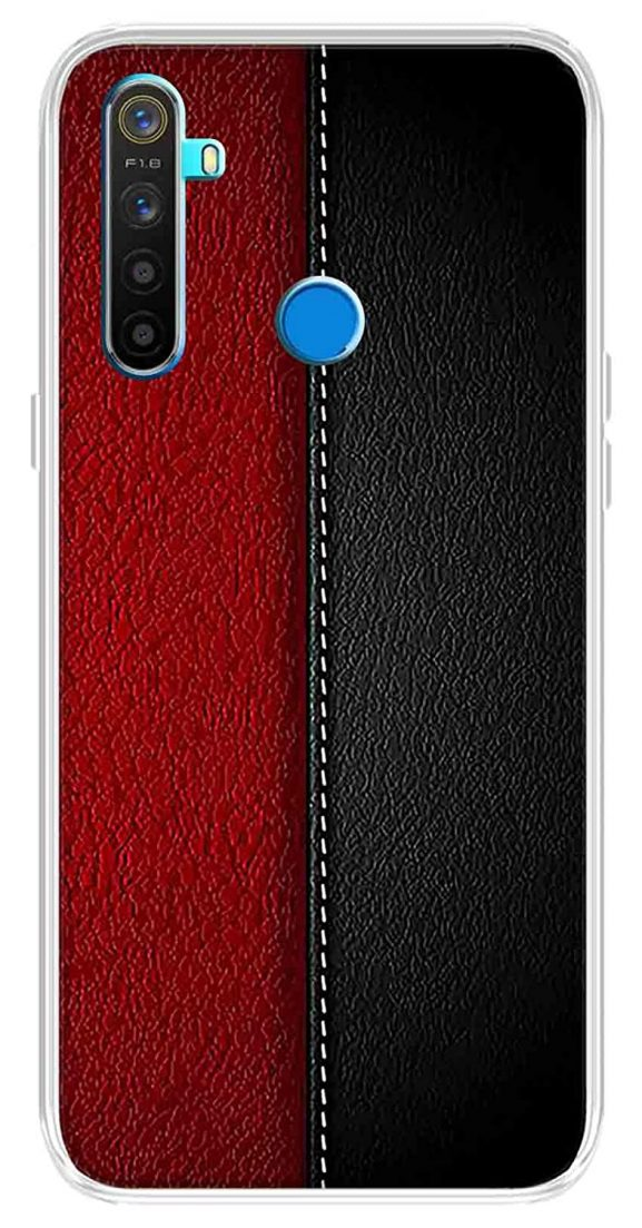 Solimo Designer Leather Pattern Printed Soft Back Case Mobile Cover