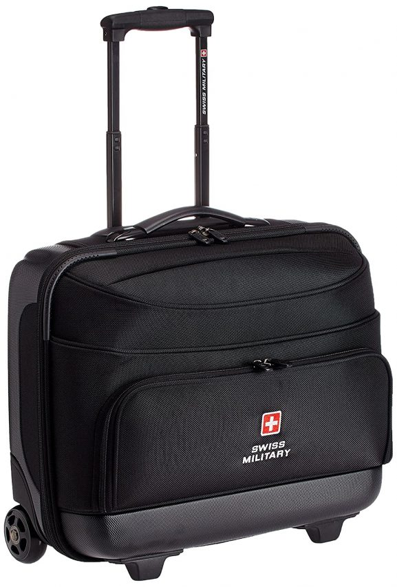 Swiss Military 15.4 inch 45 Ltrs Black Laptop Trolley Bag