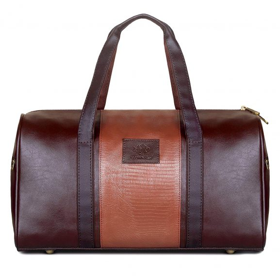 The Clownfish Splendour Unisex Brown Duffle Travel Bag