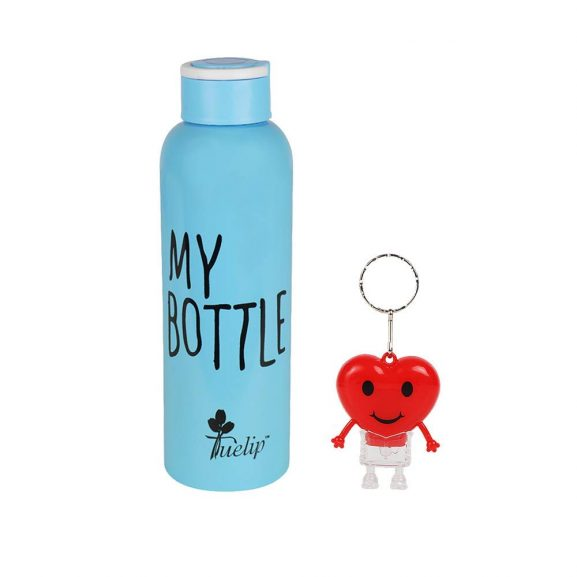 Tuelip Sports Stainless Steel Bottle with Keychain for School Kids Girls & Boys, College, Gym, Sports