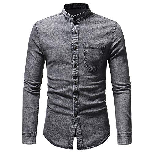 UD FABRIC Men's Slim Fit Casual Shirt: Denim Shirt For Men