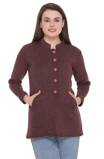 eCools Women's Solid Woolen Jacket: eCools Sweater For Women